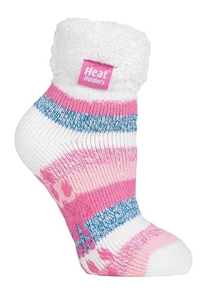 Heat Holders - Mujer Invierno Cómodo Confortables Térmico Diseño Caliente Fantasia Colores Gruesa Calcetines para Frío