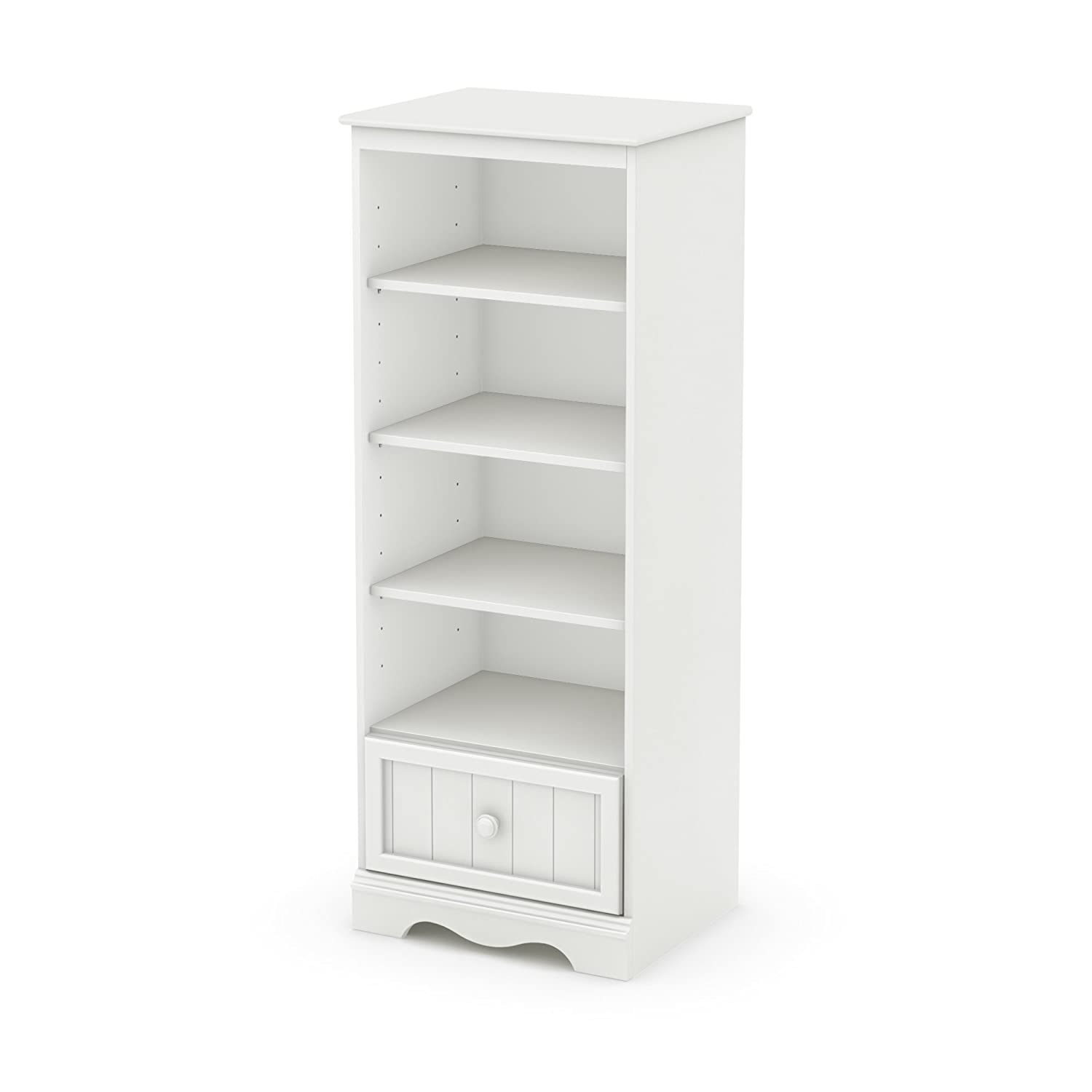 Amazon South Shore Savannah Shelving Unit with Drawer Pure