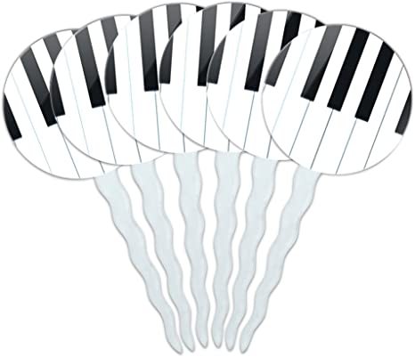 Orchestra Themed Party Decor Music Party Decorations School Band Party Decor Keyboard Piano Food Picks Piano Keys Cupcake Toppers