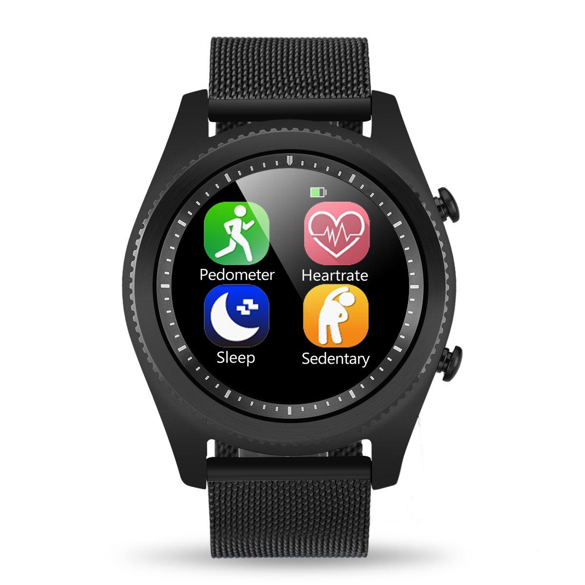 DT NO I S Bluetooth  NFC Smartwatch Monitor de Frecuencia Cardiaca