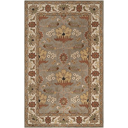 Surya Bungalo BNG-5018 Classic Hand Tufted 100% New Zealand Wool Tea Leaves 2' x 3' Arts and Crafts Accent (Arts & Crafts Rug)