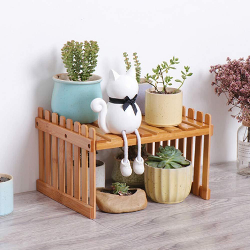 Balai 1//2 Tiers Porte-pots de fleurs petit support /à fleurs de bureau Balcon int/érieur au sol avec support pour plantes