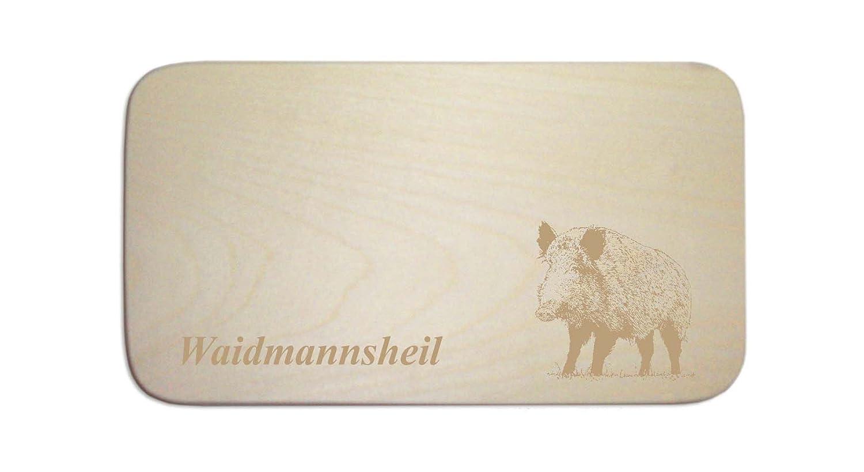 DEKOLANDO - Tabla de desayuno con el texto «Waidmannsheil» y diseño de jabalí 0742288317363