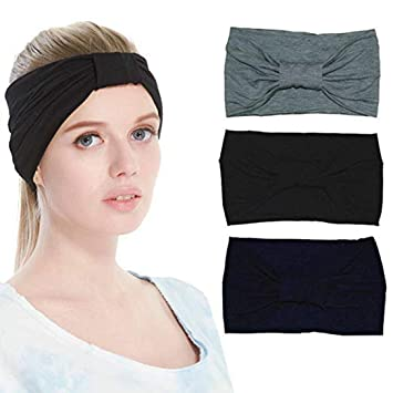 Siomentdi Women s Sweat Wicking Workout Headbands Head Wrap Best Looking Head  Scarf Headband for Sports or a3c4d25efa