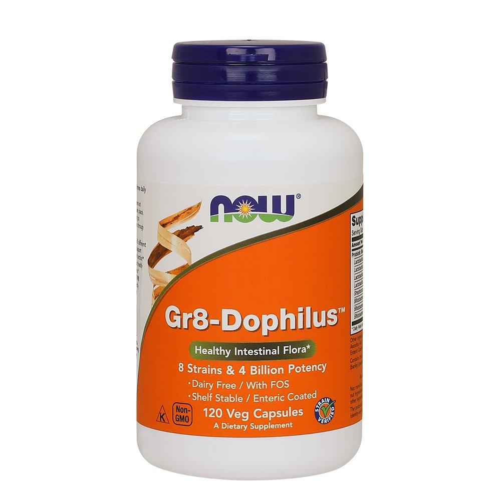 NOW Gr8-Dophilus,120 Veg Capsules