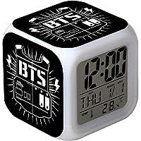 Skisneostype KPOP BTS - Reloj Despertador Digital LED