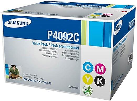 Samsung Clx 3175 Clt P4092 C Set P 4092 C Els Original Toner Multipack Black Cyan Magenta Yellow 4 500 Pages Bürobedarf Schreibwaren