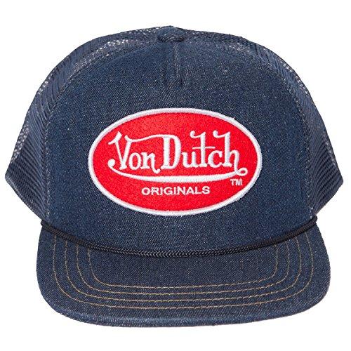 Von Dutch Men's OG Patch Red Trucker Hat-One Size Blue/Red