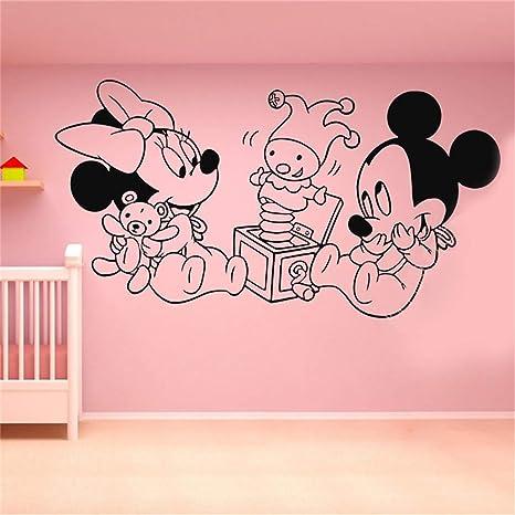 Wandtattoo Kinderzimmer Wandtattoo Schlafzimmer Mickey Mouse Wall Sticker  Aufkleber Vinyl Wall Decal Aufkleber Dekor Mickey Mouse Minnie Cartoon  Kunst ...