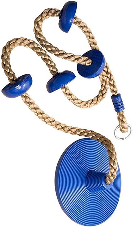 Urstory1 - Cuerda de escalada y columpio para niños, con nudos, soporte para pies, plataformas de escalada para exteriores, interiores, patio, parque ...