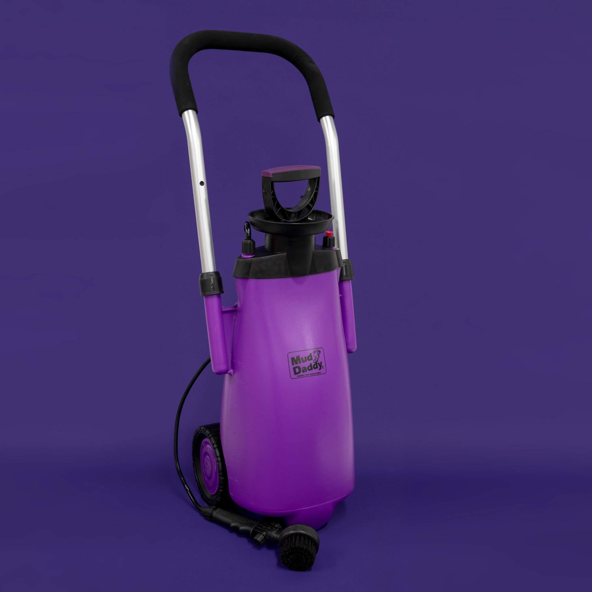 Mud Daddy Heavy Duty Washing Device on Wheels for Horses, Gardening, Camper (Purple)