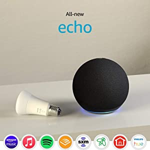 All-new Echo (4th Gen) with Philips Hue Bulb | Charcoal