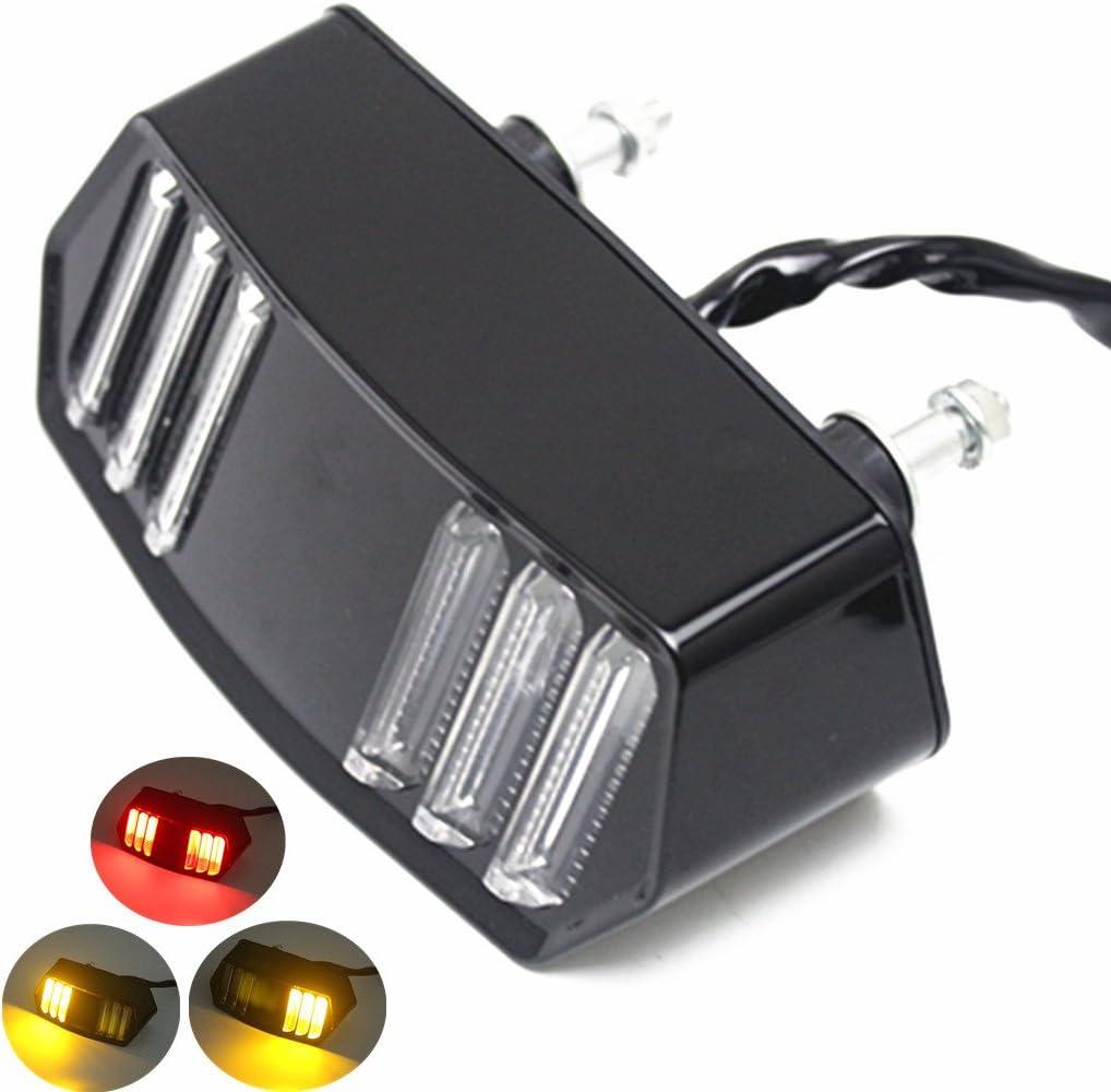 E-Bro Motorcycle LED Turn Signal Tail Light Brake Stop Running Indicator Integrated Signal Lights for Honda MSX125/SF GROM CBR650F CTX700 CTX700N