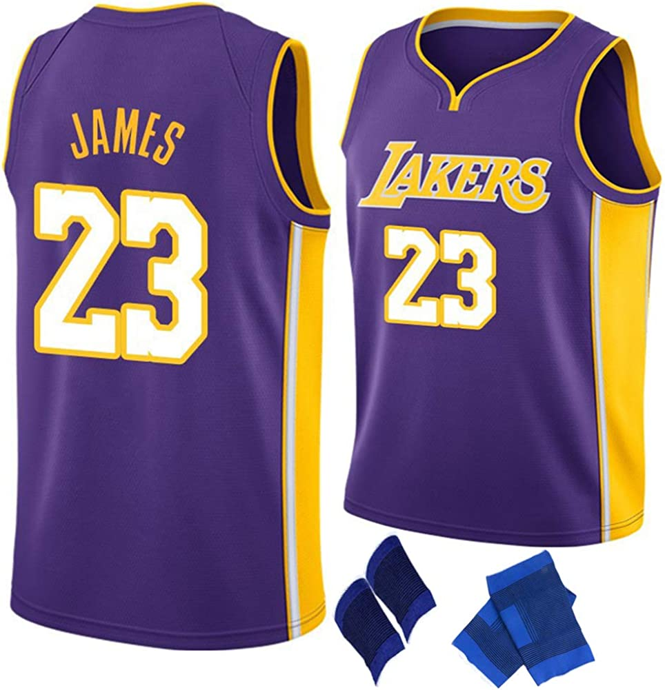 Uniforme de Baloncesto Retro para Hombre Lakers 23James ...
