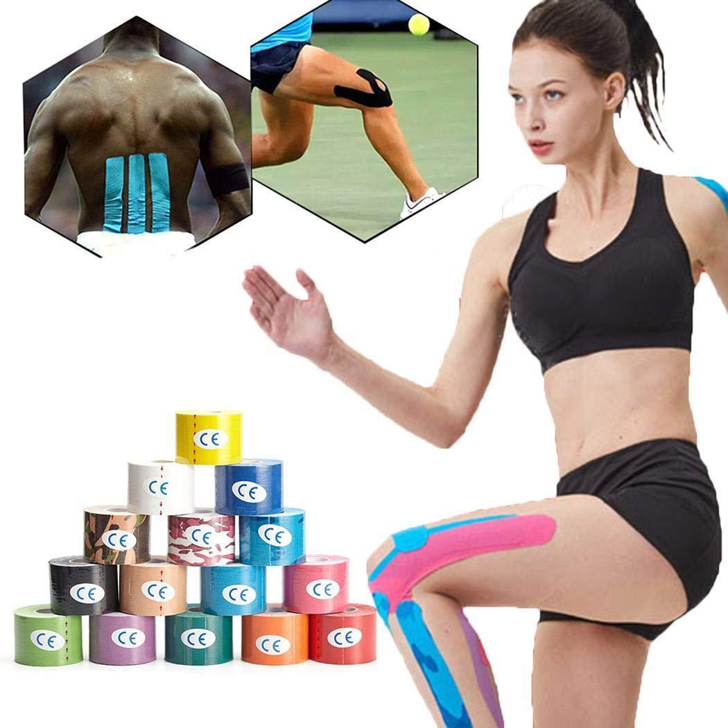 Piokikio 5cm Muscle-Adhesive Elastic Sports Tape Self-Adhesive Bandage Hand & Wrist Braces
