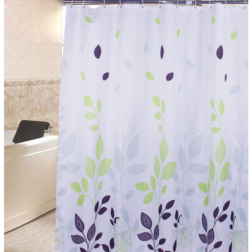 Curtain Leaves Shower Curtain, partition Thickening Bathroom Insulation Screen, Mildew Waterproof Shower Curtain Shower Equipment (Size : 180180cm)