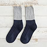 Y@H.Solid color wool autumn and winter thickening retro fashion keep warm tton socks