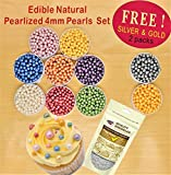 Natural Nut Gluten GMO Dairy Soy Nuts Free Shimmer 4mm Pearls set 8 get 2 free