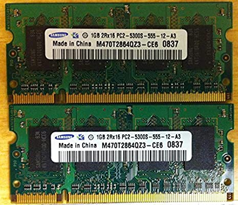 "2GB Kit 2x 1GB Apple MacBook 2.0GHz 13/"" A1181 DDR2 Laptop RAM Notebook Memory"