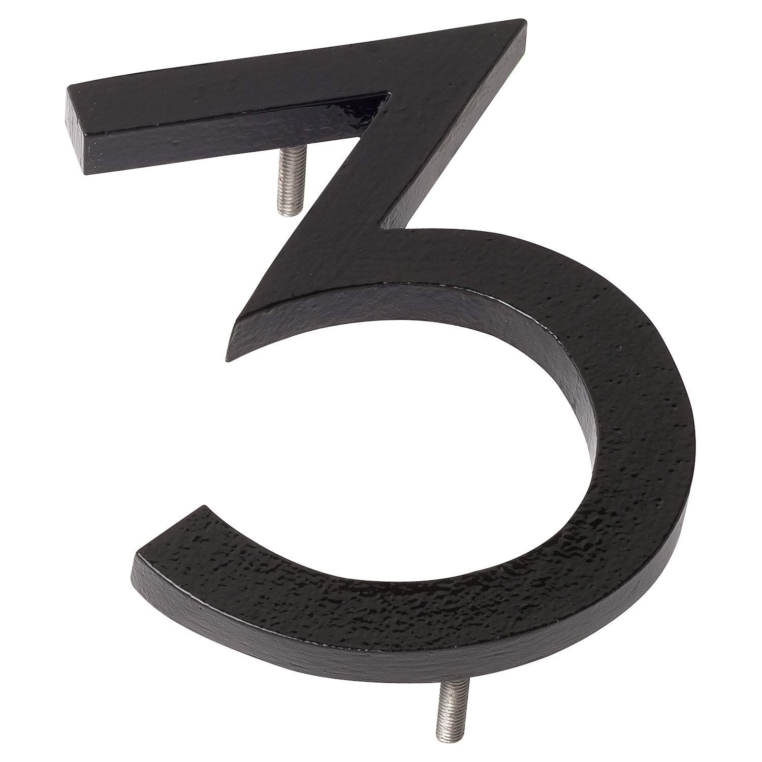 Montague Metal Products MHN-08-3-F-BK1 Floating House Number, 8'' x 6'' x 0.375'' Black
