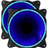 upHere fantastic Ventola di Raffreddamento da 120 mm, Rosso ,due package (blu)