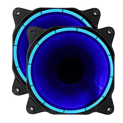 42 opinioni per upHere fantastic Ventola di Raffreddamento da 120 mm, Rosso ,due package (blu)