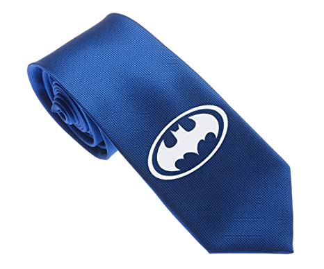 Uyoung Cool Batman Symbol Blue Mens Woven 25 Skinny Tie Amazon