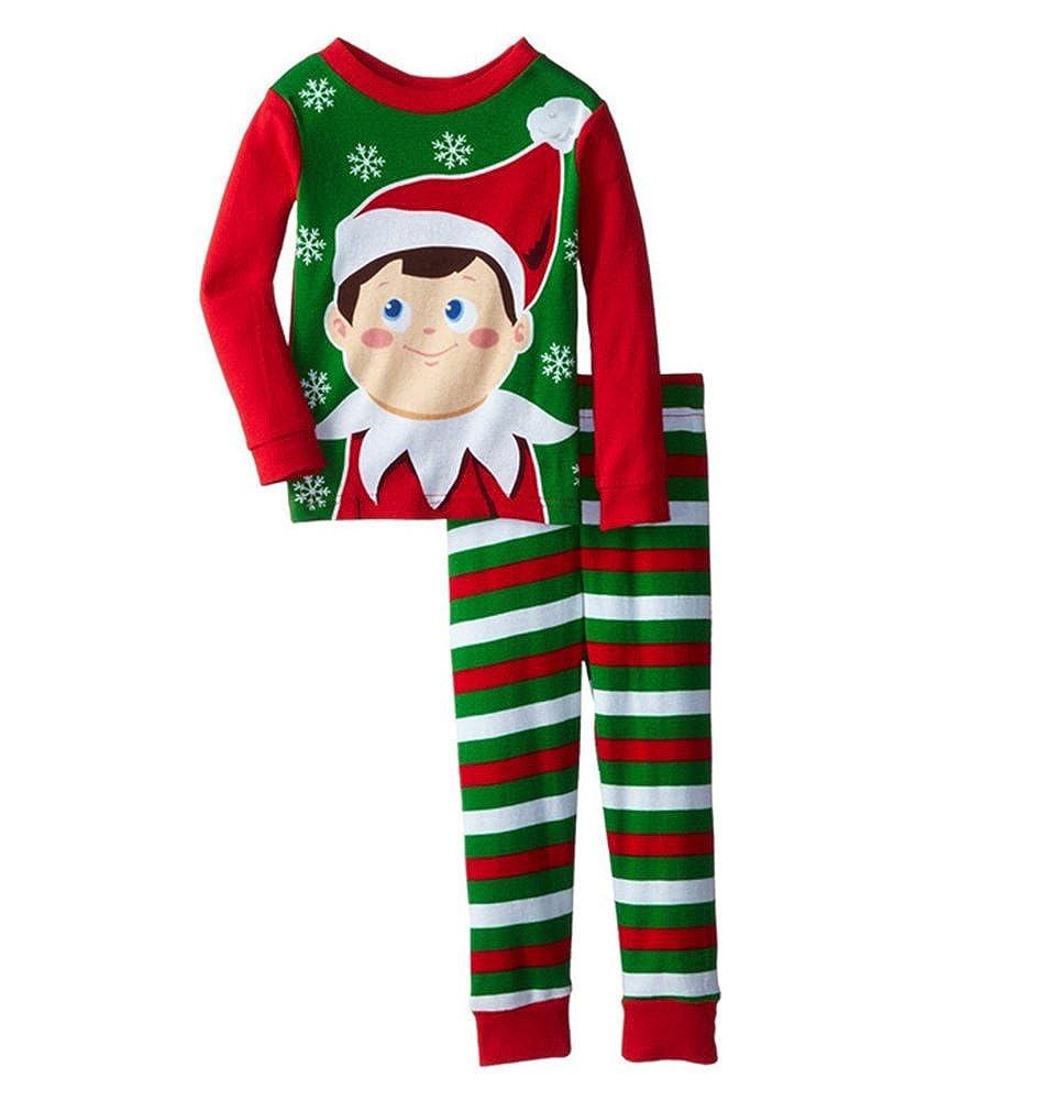 Xmas Kids Clothing Setes Navidad Hogar Vestidos Vestido de manga larga pijamas Set 1-6Years: Amazon.es: Ropa y accesorios
