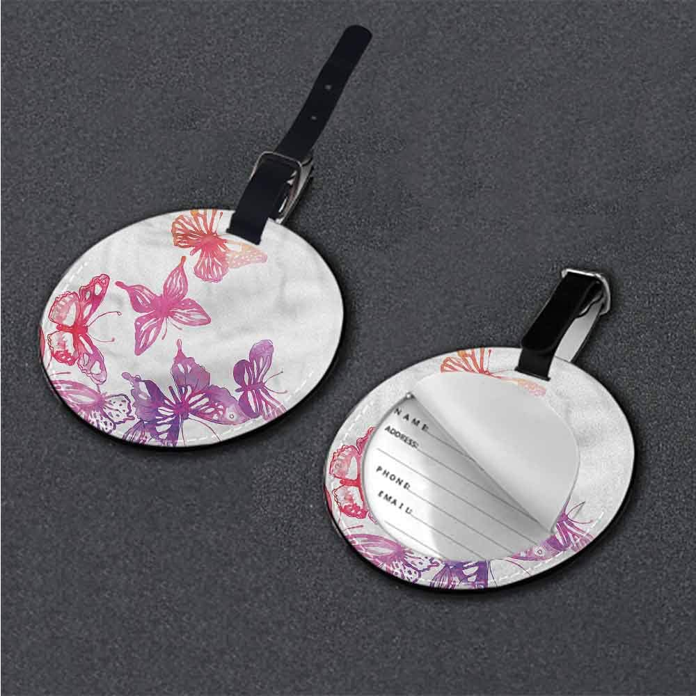 Creative Baggage Abstract,Old Fashion Retro Dots Label Tag Address Holder