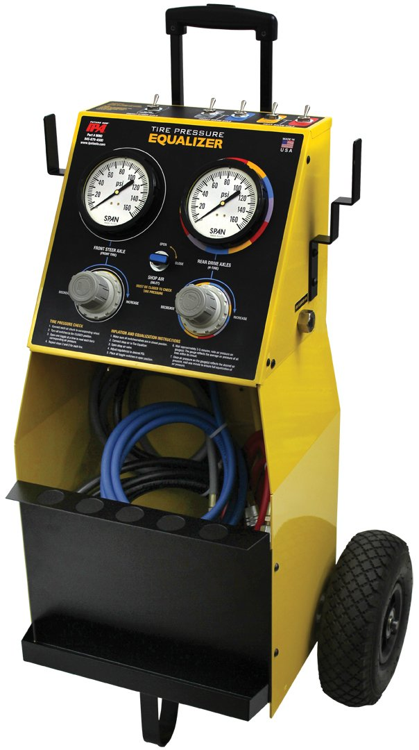 Five-Tire Pressure Equalizer System with Lock on Chucks
