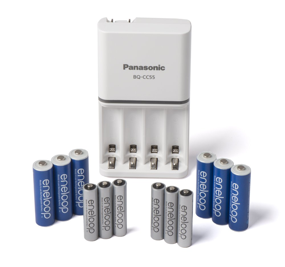 Panasonic K-KJ17MZ104A eneloop Power Pack; 10AA, 4AAA, and Advanced Battery Charger (battery color may vary) SANYO