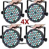 54 X 3W Stage Lights 4PCS LED Par Light DMX512 Stage Lighting Auto/Sound Activated for Disco DJ Clubs Bar KTV Party