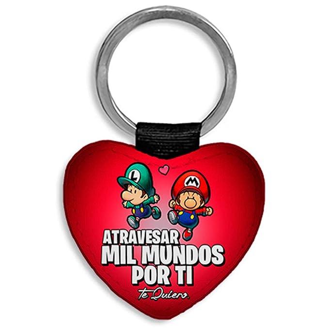 Llavero corazón Personalizable con Nombre Super Mario Bros ...
