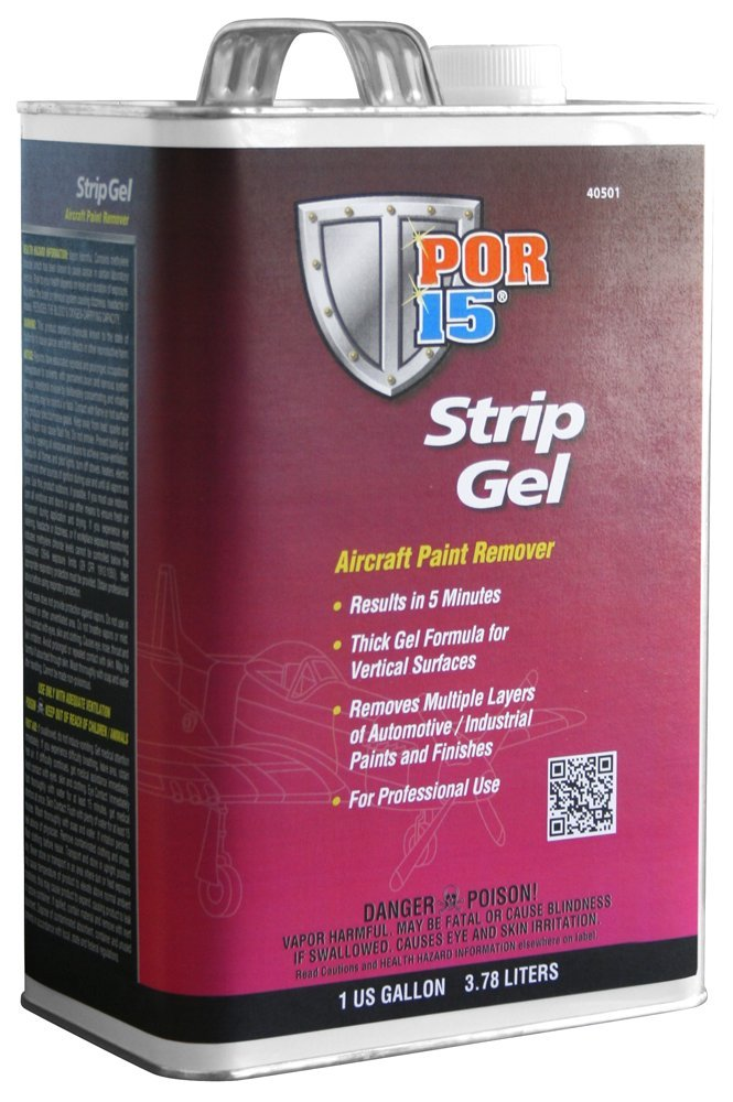 POR-15 40501 Strip Gel Aircraft Paint Remover - 1 gal