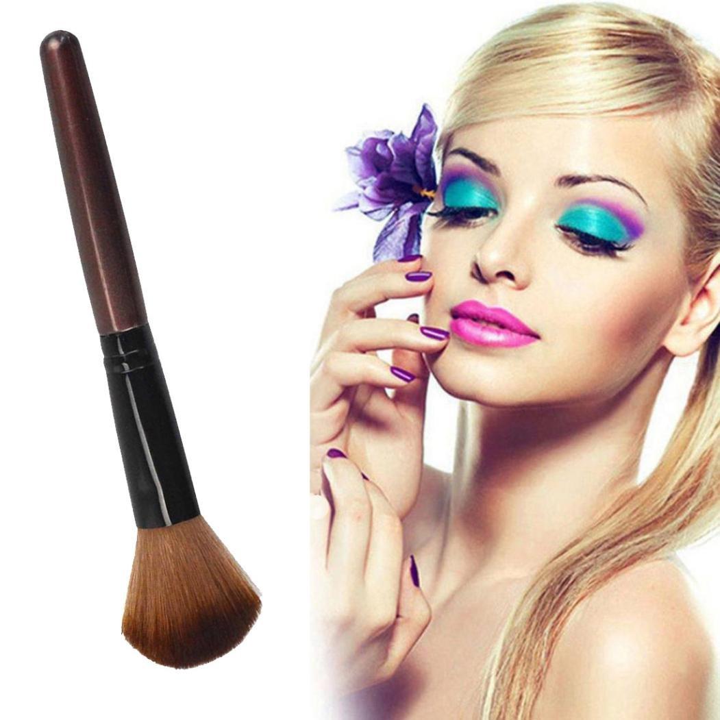 Taottao doux Contour visage Poudre Fond de Teint Blush Brosse Outil de maquillage