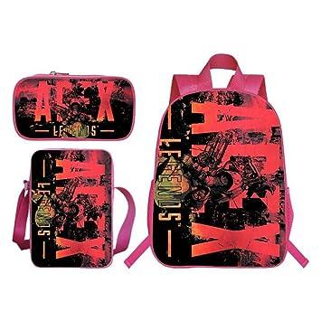 Amazon.com: LI - Juego de 3 bolsas escolares con diseño de ...