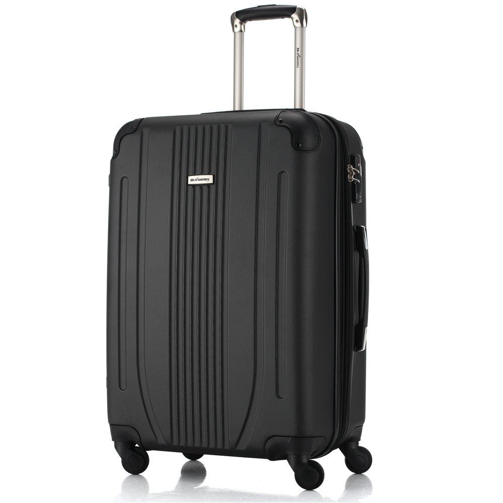 [BB-Monsters ビービーモンスターズ] スーツケース 軽量 ファスナータイプ 4サイズ キャリーケース Flower Fairy (大型、L、28, ブラック) B017CFLY5A 大型、L、28|ブラック ブラック 大型、L、28