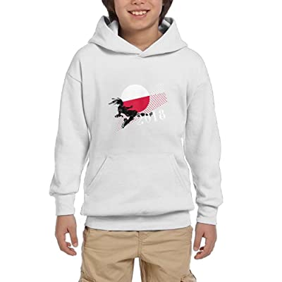 2018 Play Football Poland Youth Pullover Hoodies Fashion Pockets Sweatsuit