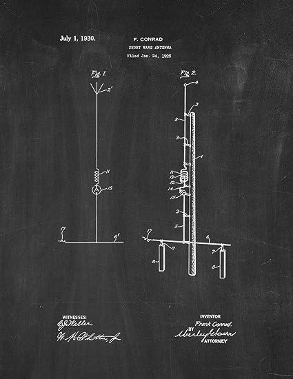 Amazon com: Shortwave Antenna Patent Print Chalkboard (5