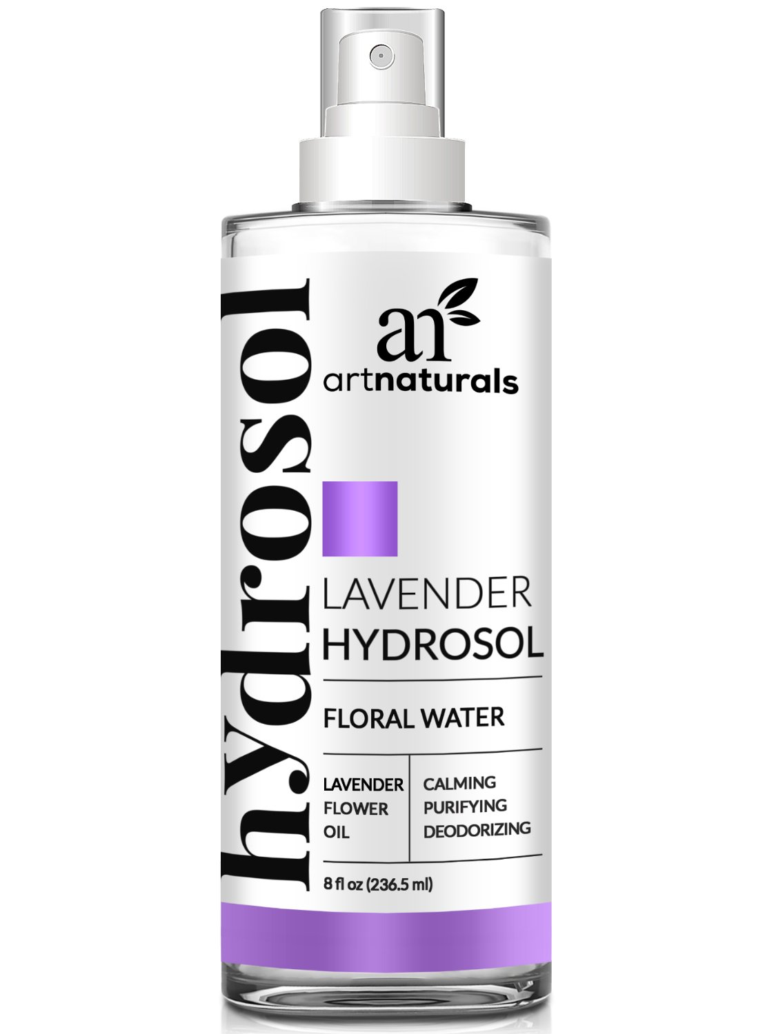 ArtNaturals Lavender Essential Oil Hydrosol Floral Water Spray - (8 Fl Oz/236ml) - Air Freshener, Pillow Mist and Deodorant - All Skin and Body Types