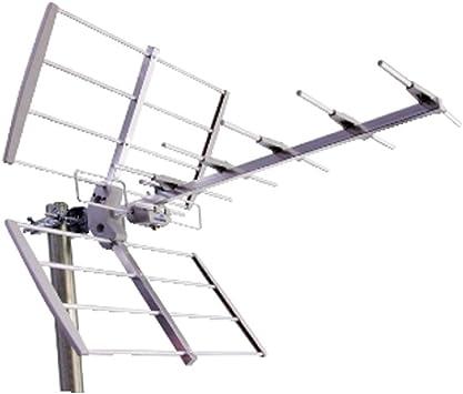 Antena exterior Yagi banda IV V 8 elementos para TV digital ...