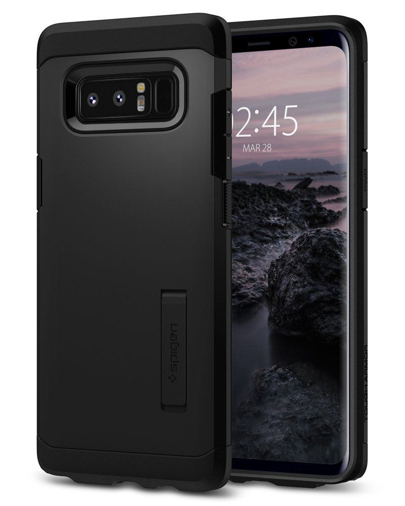 Spigen Tough Armor Galaxy Note 8 Case with Kickstand and Extreme Heavy Duty Protection and Air Cushion Technology for Galaxy Note 8 (2017) - Black by Spigen (Image #1)