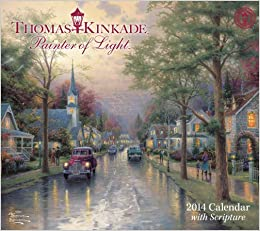 thomas kinkade painter of light with scripture 2014 deluxe wall calendar