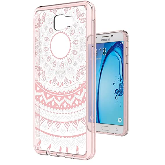 more photos ef820 e2344 Galaxy J7 Prime Case (Only Fit G610 2016 Unlocked International, Not Fit  MetroPcs and T-Moible 2017) with HD Screen Protector,AnoKe Mandala Slim  Cute ...