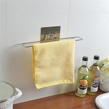 xiuxiandianju Barra de toalla de los muebles de cocina Soportes para toallas Rieles Bastidores Estantes para