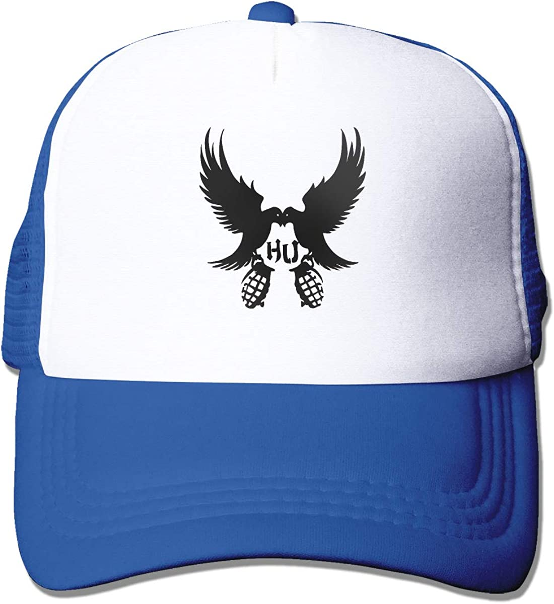 Hollywood Undead Dove and Grenade Trucker Hat Snap Back Sun Mesh Baseball Cap Hip Hop Flat Hats for Men and Women