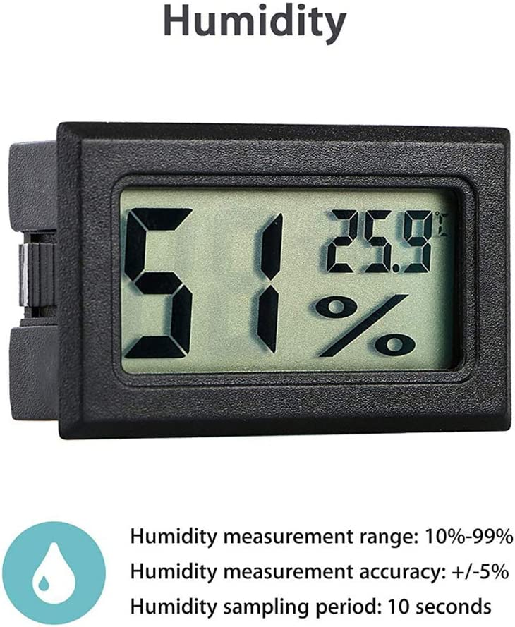 Uokoki Wireless LCD Digital Indoor Thermometer Hygrometer Room Pet Auto Car Mini Temperature Humidity Meter Tester