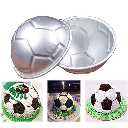 Juego de 12 moldes antiadherentes para tartas de futbolín o ...