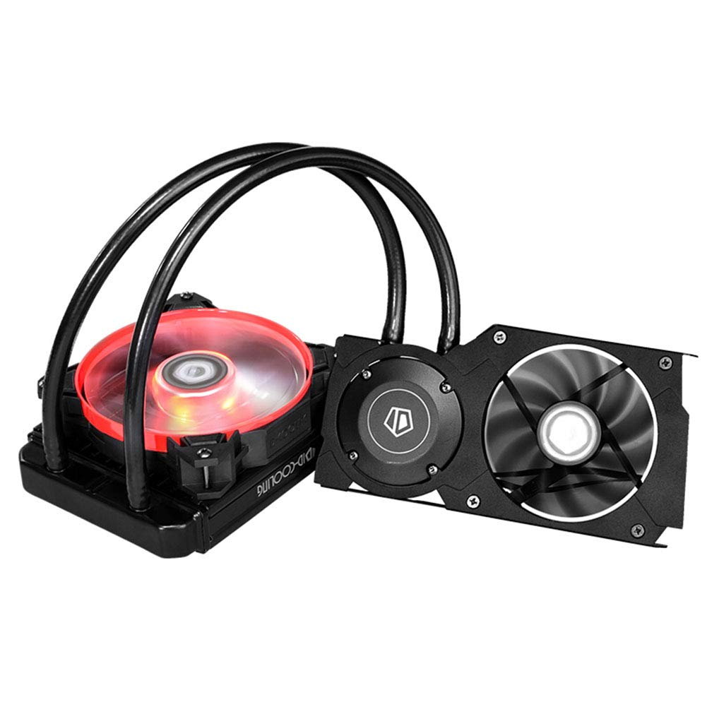 Graphics Card Water Cooling Radiator Low-Noise Computer Chassis Accessories with Powerful Fan Dual Modes Computer Rapid Cooling Device