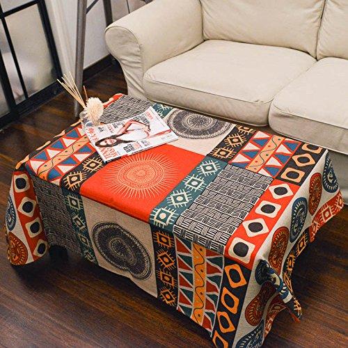 Retro rural sol totem creativa mesa de centro del pano grueso mantel manteles de lino sala de estar , sun totem , 110*110